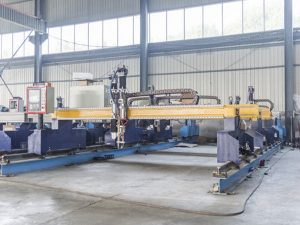 智能龍門式cnc金屬板切割機自動等離子和火焰切割機械